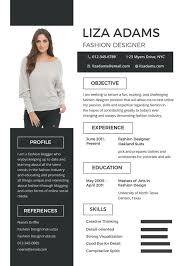 unique resume templates fashion designer resume template 9 free sles exles
