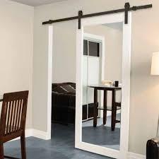 Single Mirror Closet Door Alluring Single Barn Door Designs With Best 20 Interior Barn Doors