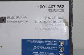 glacier bay touchless led single glacier bay touchless single handle pull sprayer kitchen