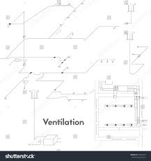 axonometric view ventilation system vector design stock vector