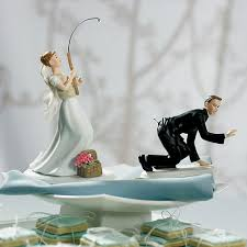 catch of the day u0027 fishing wedding cake topper the knot shop