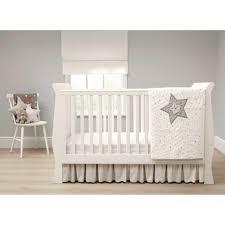 mamas u0026 papas millie u0026 boris 3 piece crib bedding set cream grey