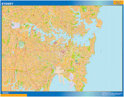 sydney wall map our cartographers have made sydney wall map as sydney wall map