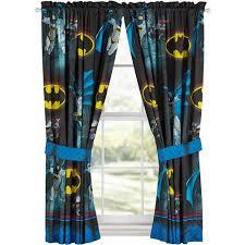 Batman Boys Bedroom Batman U0027safe Again U0027 Boys Bedroom Curtains Walmart Com