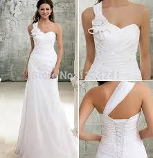 Greek Style Wedding Dresses Turmec Greek Style One Shoulder Wedding Dresses