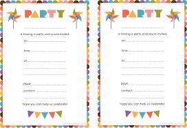 printable party invitations print birthday party invitations birthday invites chic printable