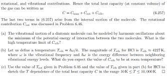 problem 6 47 heat capacity of an ideal diatomic g chegg com