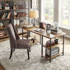 Reclaimed Office Furniture by Industrial Desk Writing Table Rustic Reclaimed Wood Metal Home