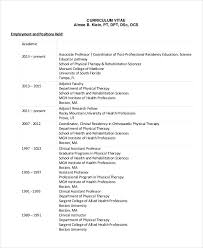 Sample Resume For Physical Therapist Assistant by Physical Therapist Resume 5 Free Word Pdf Documents Download