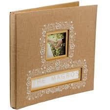 burlap photo album buy the k company frame a name burlap scrapbook album at