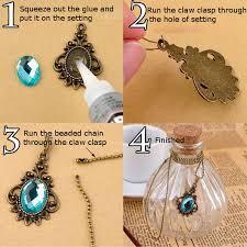 crystal necklace diy images Diy vintage bronze crystal pendant necklace long chain handmade jpg