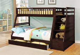 White Twin Over Full Bunk Bed With Stairs Twitter
