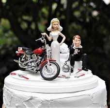 motorcycle wedding cake toppers motorcycle wedding cake topper and groom harley