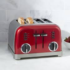 Calphalon 4 Slot Stainless Steel Toaster Cuisinart Toaster 4 Slice Crate And Barrel