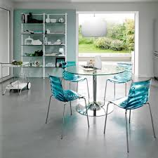 single dining chair kitchen sweet round glass kitchen dining table blue acrylic dining