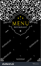 menu design restaurantoriental cuisine menu design stock vector