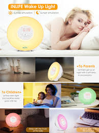 amazon com sunrise alarm clock inlife 2017 newest wake up light