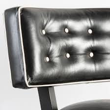 Black Leather Accent Chair Mitchell Gold Black Leather Accent Chair White Cord Button