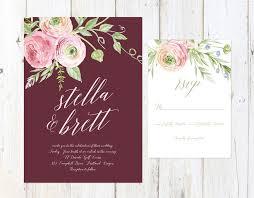burgundy wedding invitations burgundy wedding invitations cloveranddot