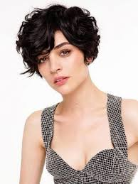 charming short curly with bangs hairstyle for women