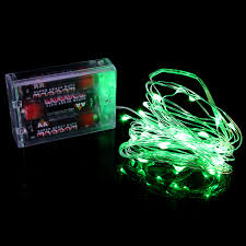 green led string lights green 3 aa battery operated led string lights