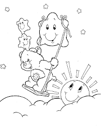 pudgy bunny u0027s care bears coloring pages