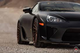 widebody lexus lfa satin black lexus lfa stuns on vossen wheels gtspirit