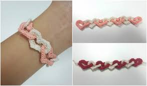 bracelet crochet pattern images Interlinked hearts bracelet free pattern your crochet jpg