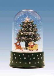 11 75 pre lit musical and animated tree snow globe