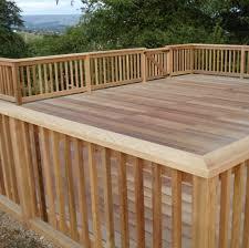 Outdoor U0026 Garden Compelling Deck Railing Design For Raised Deck