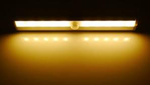 Stick On Led Lights Le Led Closet Light Motion Sensing Under Cabinet Lighting 10 Led