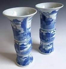 Blue And White Vases Antique Chinese Other From The Zentner Collection Of Antique Asian Art
