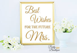 best wishes bridal shower gold bridal shower decoration printable wishes sign best wishes