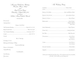 catholic wedding program cover catholic wedding program template the free website templates