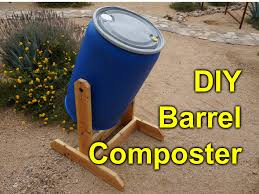 diy composter tumbler 55 gallon barrel project gardening