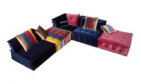Ebay Sectional Sofa Vig Contemporary Divani Casa Dubai Multicolor Fabric Modular