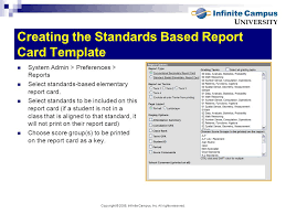 report card standards based template standard based grade report