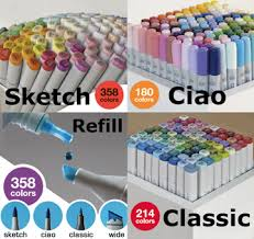 sketch markers ciao markers classic markers copic markers
