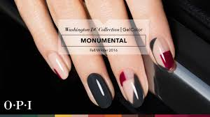 opi gelcolor tutorial washington dc collection monumental