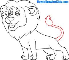 draw lion kids howtodrawforkids