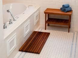 Redwood Shower Bench Teak Shower Bench And Black Mold House Design And Office
