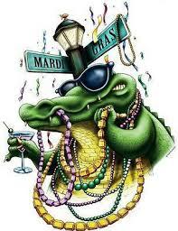 mardi gras alligator i this a mardi gras alligator holding a martini glass