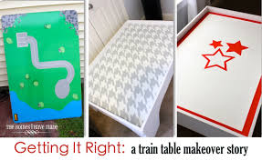 thomas the tank engine table top getting it right a train table makeover story part i the homes