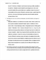 lexisnexis questions and answers evidence case nadel et al v burger king week 3 running head nadel et al v