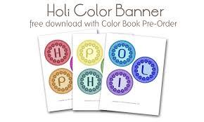 free happy holi banner