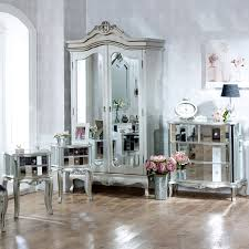 Tiffany Range Furniture Bundle Mirrored Double Wardrobe Chest - Dining room chests