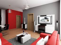 red colour combination for minimalist living room design ideas