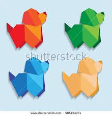 Origami Pets - origami immagini stock immagini e grafica vettoriale royalty