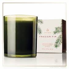 thymes frasier fir thymes frasier fir green glass candle anthony collection