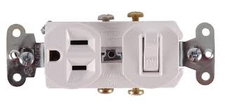 ge wall switch u0026 outlet combo single pole white wall light